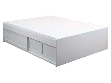 lit adulte 140x190 cm belem coloris blanc vente de lit