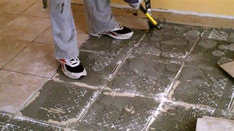 how to remove bathroom floor tiles how to remove ceramic tile youtube