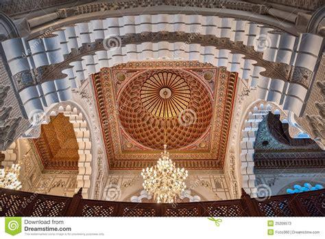Interior Vault by Hassan Ii Mosque Interior Vault Casablanca Morocco Stock