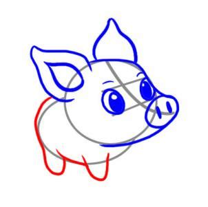 Easy Things To Draw Step By Step by How To Draw A Simple Pig Step By Step Farm Animals