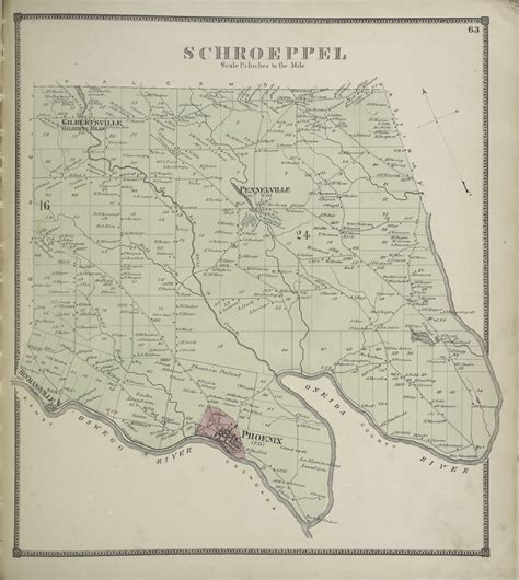 schroeppel new york 1867 town map reprint oswego