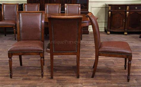 solid walnut dining solid walnut leather upholstered dining chairs with brass
