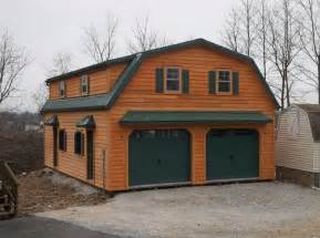 gambrel story garage doublewide garages stoltzfus structures barn style lofted free estimates