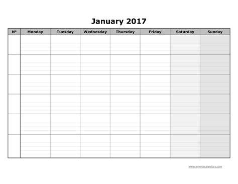 Blank Calendar Template Blank Calendar Grid Template Calendar Template 2016