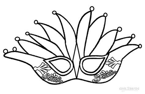 Mardi Gras Crown Coloring Pages On Printable sketch template