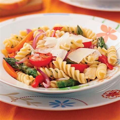 cuisine recettes pratiques fusillis primavera recettes cuisine et nutrition