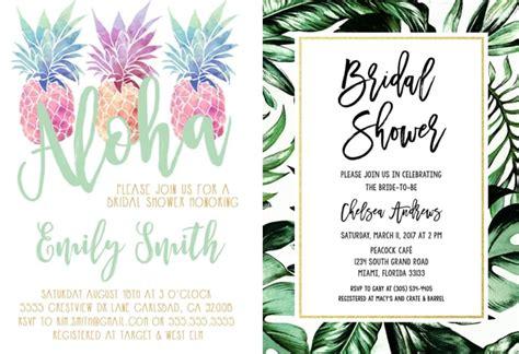 bridal shower invitations same day shipping tropical themed bridal shower invitations ideas