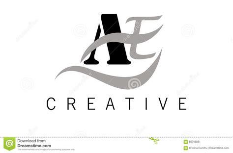 ae logo templates a e letter logo design creative ae letters icon stock