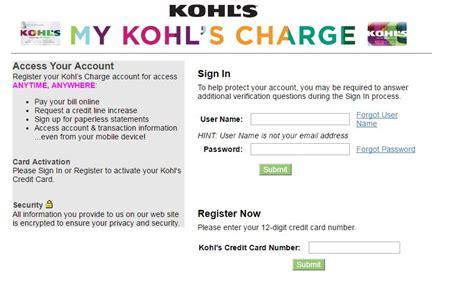 make a payment kohls credit card mykohlscharge kohls credit card login