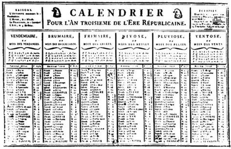 Calendrier Revolutionnaire Francais Le Calendrier R 233 Publicain Remis Au Go 251 T Du Jour Agenda