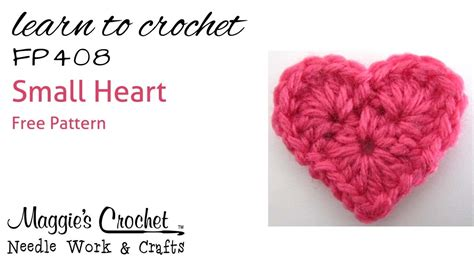 Crochet Heart Pattern Free Youtube | crochet how to free pattern small heart right handed
