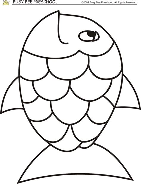 rainbow fish colouring template rainbow fish preschool templates sketch coloring page