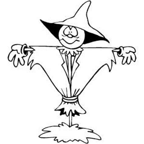 Scarecrow Hat Coloring Page scarecrow with wide hat coloring page