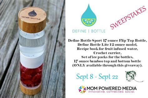 Define Giveaway - define bottle infuser giveaway rv 107 my dairyfree glutenfree life