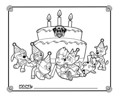 nick jr paw patrol printable coloring pages paw patrol party placemats nick jr parties pinterest