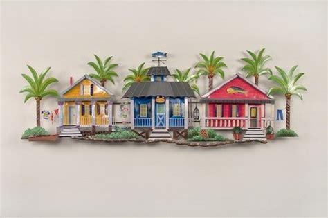 beach house wall decor caribbean village tropical beach decor wall art