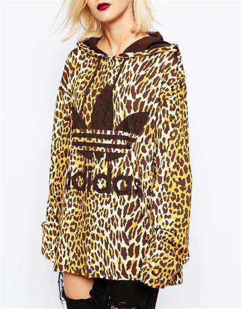 Print Hoodie adidas leopard sweatshirt