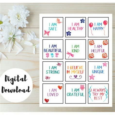 printable affirmations quotes affirmation cards affirmations for kids positive