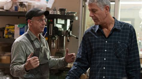 anthony bourdain on kitchen knives anthony bourdain watches as master bladesmith bob kramer