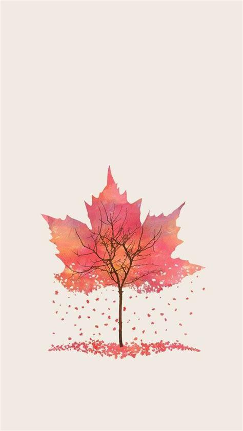 girly autumn wallpaper 紅葉のイラスト スマホ壁紙 iphone待受画像ギャラリー
