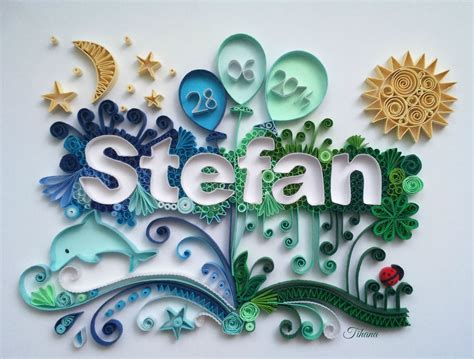 quilling names tutorial quilled name stefan quilling moon quilling sun quilling