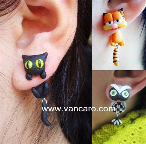 chaton chats and boucles d oreilles on