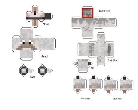 Papercraft Guide - minecraft papercraft guide papercraft animals