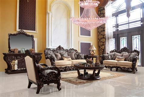 luxury living room sets luxury living room set with wood carvings von furniture
