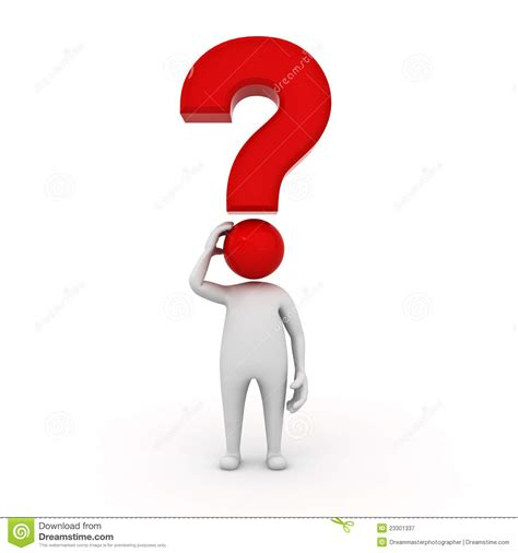 man character  red question mark royalty  stock