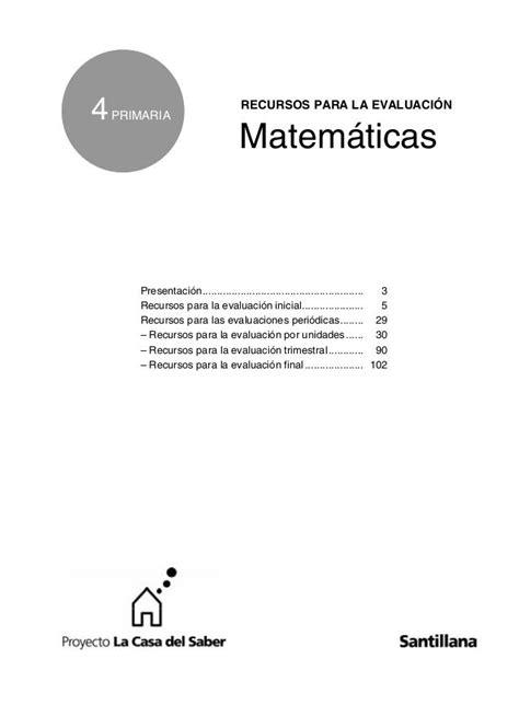 La casa del saber 4º matematicas.ayla2009 | Exámen de