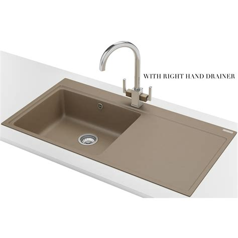 fragranite kitchen sinks franke mythos mtg 611 fragranite oyster 1 0 bowl inset