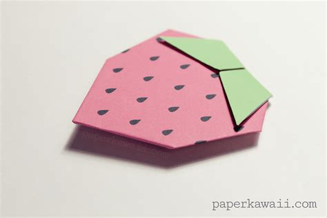 tutorial origami strawberry origami strawberry tutorial free printable paper kawaii