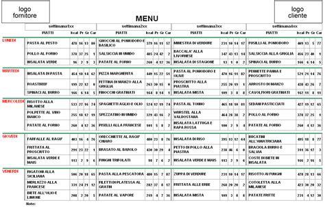programma calcolo calorie alimenti favoloso piano alimentare settimanale per dimagrire zc73