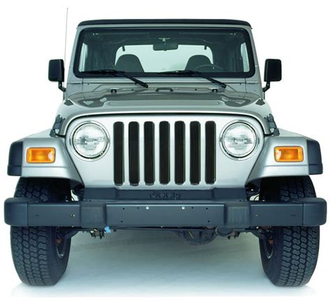 jeep tj grille inserts road 90018black road billet