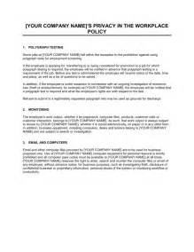 Corporate Privacy Policy Template by Policy On Privacy And Employee Monitoring Template