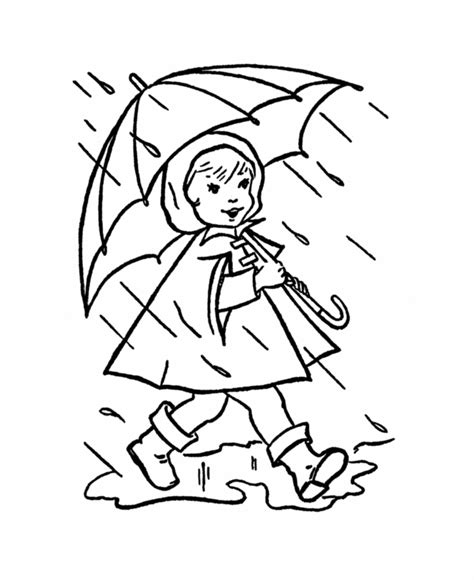 coloring pages about rain coloring pages rain coloring home