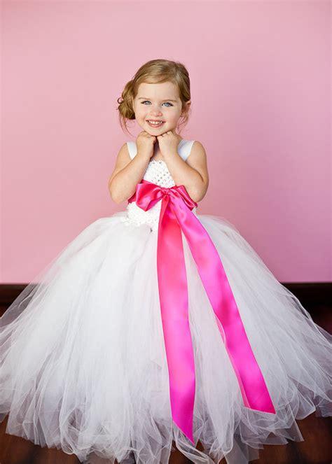 Dress Pink Tutu Flower white and pink flower tutu dresses tu tu dress