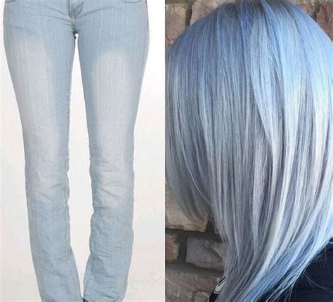 hairstyle for short hair on jeans denim hair you can now match your hair to your jeans with