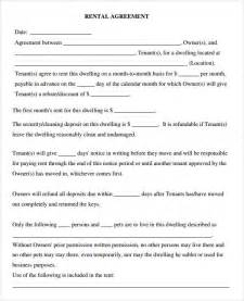 free template for lease agreement florida rental agreement for a room no pets template to