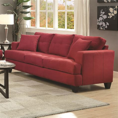 coaster samuel sofa sofa with tufted cushions furniture