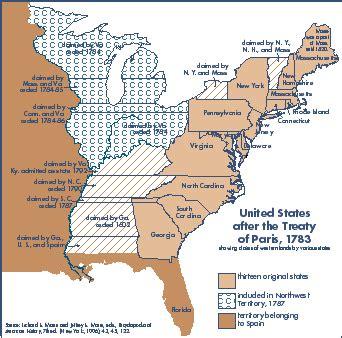 united states in 1783 map ihb indiana territory focus