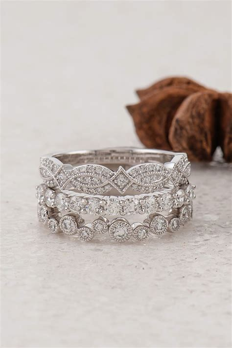 25 best ideas about stacked wedding rings on
