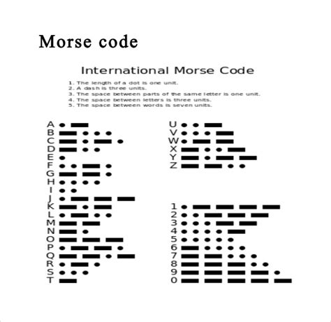 printable alphabet code morse code alphabet chart 9 download free documents in