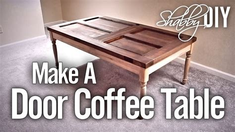 how to a coffee table a coffee table from an door