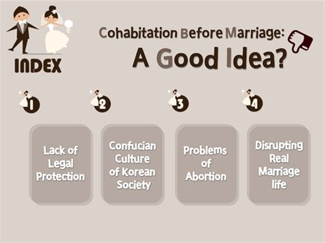 Co Habitating Before Marriage Where To Draw The Line by 20 100 C Cohabitation Before Marriage By 허옥엽