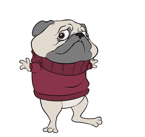pug character pug character by gregoryroth on deviantart