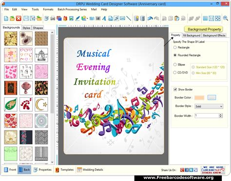 Wedding Card Maker by Wedding Card Maker Software Screenshots Freebarcodesoftware