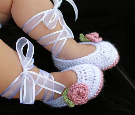 baby ballet slippers hello crochet slippers