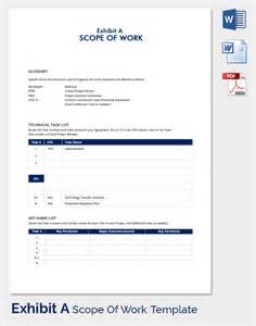scope of work template free scope of work 22 dowload free documents in pdf word excel