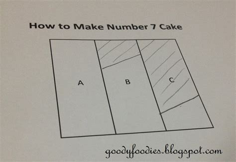 How To Make A Birthday Cake Out Of Paper - goodyfoodies how to make number 7 birthday cake